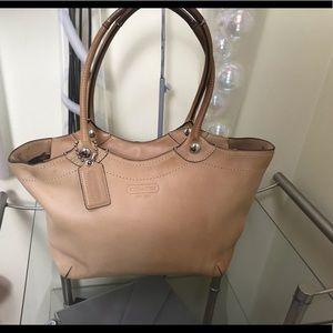 Coach Tan Leather Bleeker Tote Shoulder Handbag